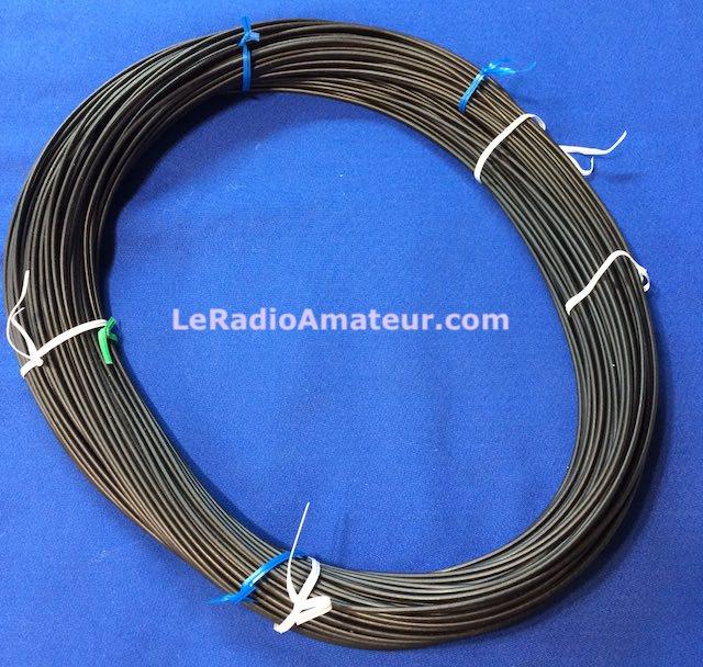 Fil FlexWeave 14 AWG recouvert de polyéthylène pour antenne filaire.