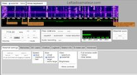 Interface pour utilisateur (IU) de site, utilisant la technologie WebSDR, pour écouter les radioamateurs via Internet.